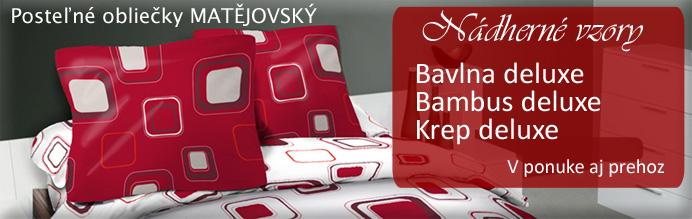 obliecky-matejovsky HIT RED - zakúpite v E-SHOPE  www.navliecky.sk